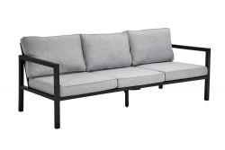 3-Sitzer Außensofa Belfort | Schwarz & Grau