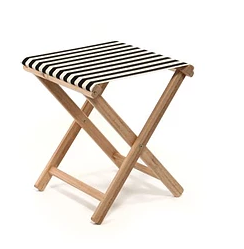 Beach Stool Striped | Black / White