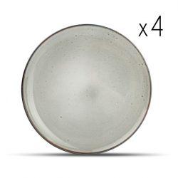 4er-Set Teller Freckles 26 cm | Grün