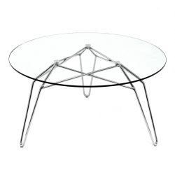 Table Chevet Diamond | Chrome