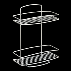 Wall Shelf Onda | 2 levels | Silver