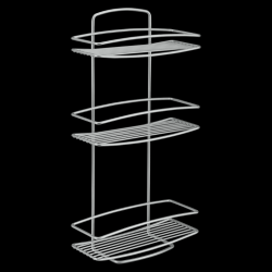 Wall Shelf Onda | 3 levels | Silver