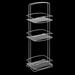 Bathroom Rack Onda | 3 Levels | Silver