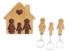Keyholder with Set of Keychains | Family with Son