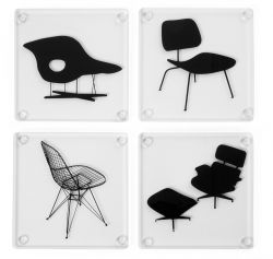 Set of 4 Coasters Eames Chair
