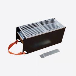 Tisch Barbecue Holzkohle & Wasser Yaki | Schwarz
