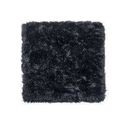 Sheepskin Rug Square | Black