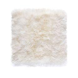 Sheepskin Rug Square | White