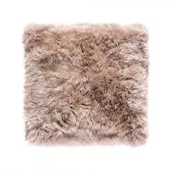 Quadratischer Schafwollteppich 70 cm | Hellbraun
