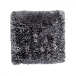 Quadratischer Schafwollwollteppich 70 cm | Grau