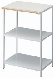 3-Tiered Storage Rack Tower | White