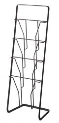 Magazine Stand Tower 4 Folders | Black