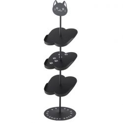 Shoe Rack for Kids Cat | Black
