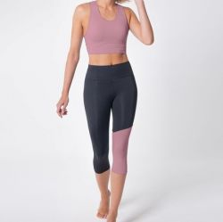 Set of Legging and Technical Sport Bra 7051 7052 | Pink