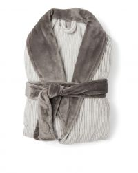 Robe de Chambre Flanelle Sens | Gris/Blanc
