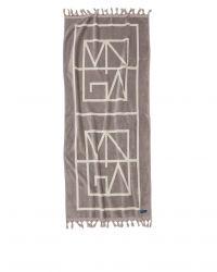 Strandtuch Monogram | Grau