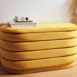Storage Pouf Charme XL | Yellow