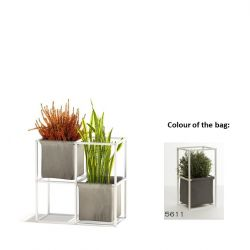 Modular Planting System 4x White + 2 Dark Grey Bags
