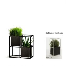 Modular Planting System 4x Black + 2 Anthracite Bags
