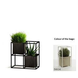 Modular Planting System 4x Black + 2 Beige Bags