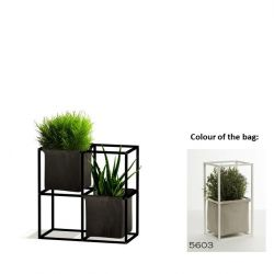 Modular Planting System 4x Black + 2 Light Grey Bags