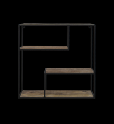 Wall Shelf Levels 65 x 20 x 65 cm | Mango Wood
