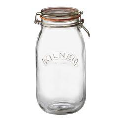 Runder Glas-Clip-Top-Dose -2 l