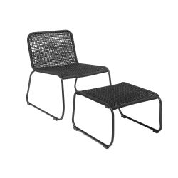 Lounge Chair with Footrest Mundo | Black