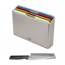 Set of 4 Chopping Boards & Knife Folio
