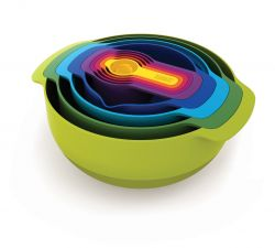 Mixing Bowls & Measuring Cups Nest Set of 9