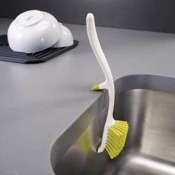 Dish Brush + Sink Support Edge | White