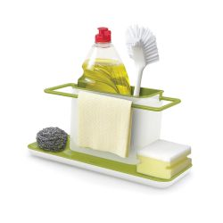 Gootsteen Organiser Caddy Sink Tidy Large | Wit & Groen