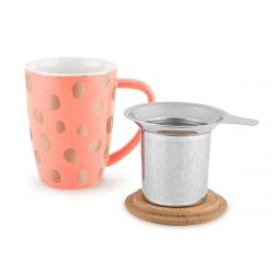 Bailey Peach & Copper Tea Mug and Infuser
