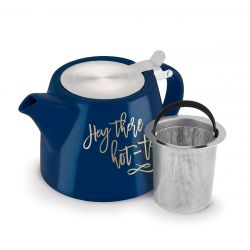 "Harper ""Hey There, Hot-Tea"" Teapot & Infuser"