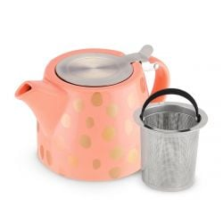 Harper Peach & Copper Teapot & Infuser