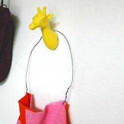 Giraffe Coat Hook | Yellow