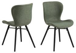 Set de 2 Chaises Matilda-A1 | Vert & Noir