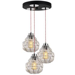 Pendant Lamp Safderun 407-S2 | Chrome