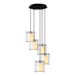 Pendant Lamp Swank 702-5S2 | Black