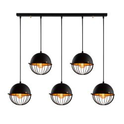 Hanging Lamp Sivani Tel MR-345 | Black & Gold