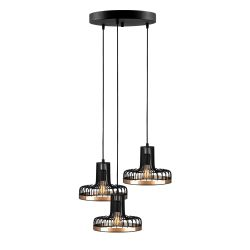 Hanging Lamp Fellini MR-776 | Black Copper