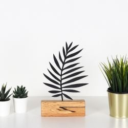 Decorative Object Palm Leaf | Black