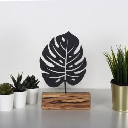 Decorative Object Monstera | Black