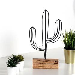 Decorative Object Cactus | Black