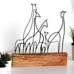 Dekoratives Objekt Giraffe | Scwharz