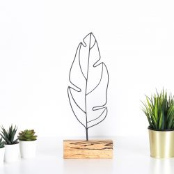 Decorative Object Leaf | Black