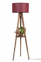 Floor Lamp 8283-1 | Brown & Claret Red