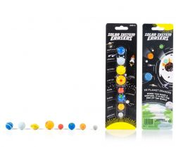 8er-Set Radiergummis Sonnensystem