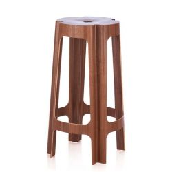 Bloom Bar Stool - Walnut