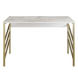 Study Desk Tuna | Gold / White